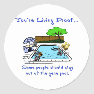 Stay Out of the Gene Pool Classic Round Sticker