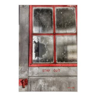 Stay Out Old Door Poster