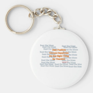 Stay Positive Choose Happiness Do the Right Thing Basic Round Button Keychain