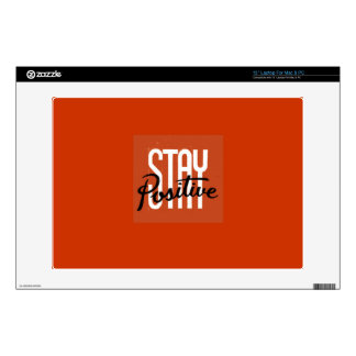 "stay positive decal for 13"" laptop"