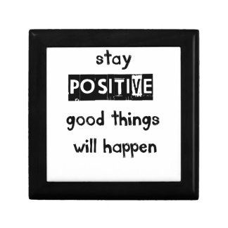 stay positive good thing will happen jewelry box