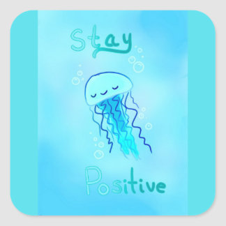Stay Positive Jellyfish Stickers