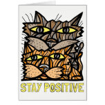 """Stay Positive"" Notecard"