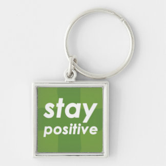 Stay Positive on Green Plus Keychain