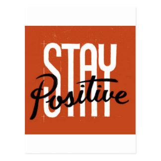 Stay Positive Postcard