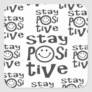 Stay Positive Square Sticker