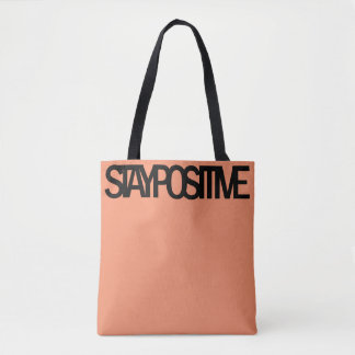 STAY POSITIVE Tote (Salmon)