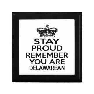STAY PROUD YOU ARE DELAWAREAN TRINKET BOX