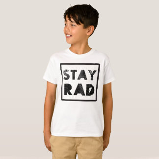 Stay Rad 1980's Vintage Retro Graphic Tee Shirt