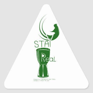 STAY REAL GREEN TRIANGLE STICKER