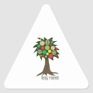 Stay Rooted Triangle Sticker