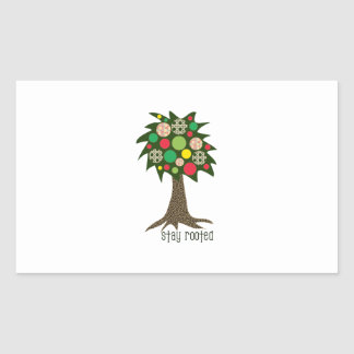Stay Rooted Rectangular Sticker