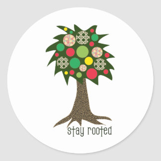 Stay Rooted Classic Round Sticker