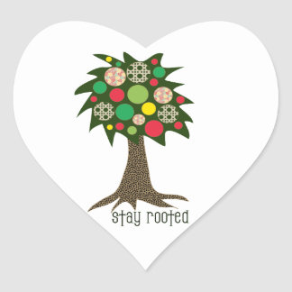 Stay Rooted Heart Sticker