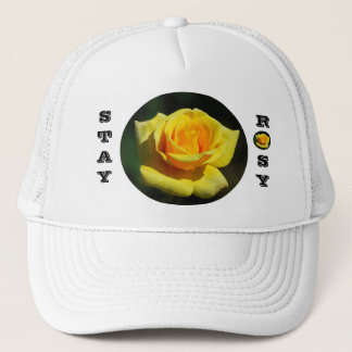 Stay Rosy Yellow Rose Hat