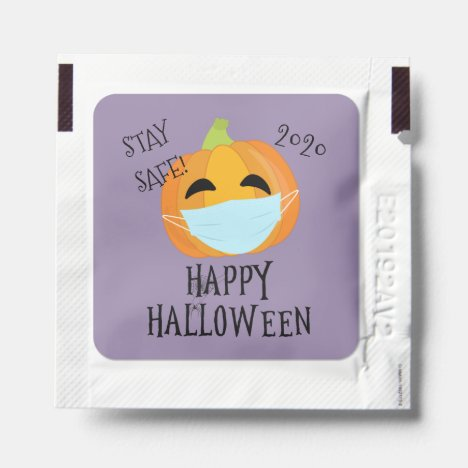 Stay Safe 2020 Halloween Pumpkin Hand Sanitizer Packet