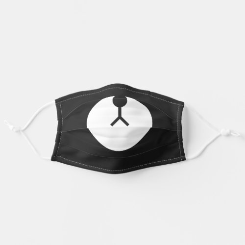 Stay Safe Funny Black and White Bear Face Cloth Face Mask
