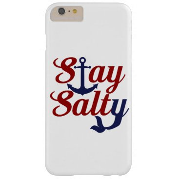 Beach Themed Stay Salty Nautical Art Barely There iPhone 6 Plus Case