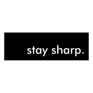 stay sharp. business cards