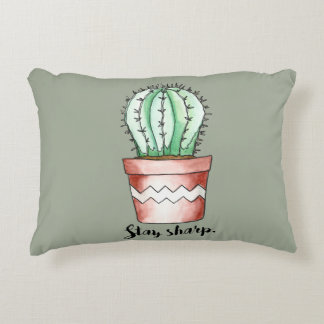 Stay Sharp Cactus Decorative Pillow