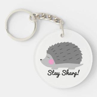 Stay Sharp Hedgehog Keychain