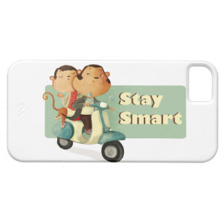 Stay Smart Scooter Monkeys iPhone 5 Cover