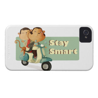 Stay Smart Scooter Monkeys iPhone 4 Cases