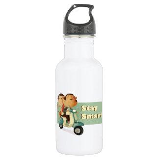 Stay Smart Scooter Monkeys Stainless Steel Water Bottle