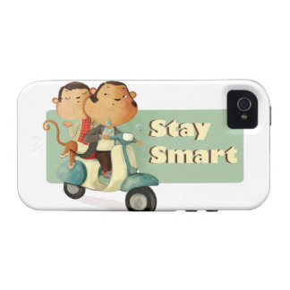 Stay Smart Scooter Monkeys Vibe iPhone 4 Cover