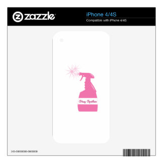 Stay Spotless iPhone 4S Skin