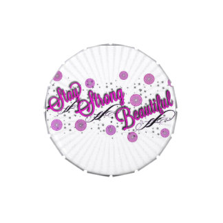 Stay Strong Beautiful Jelly Belly Candy Tin