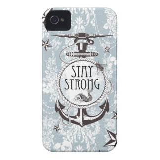 Stay Strong Blue Nautical Products. iPhone 4 Case