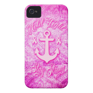 Stay Strong Breast Cancer awareness art. iPhone 4 Case