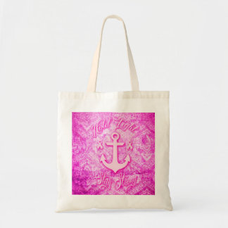 Stay Strong Breast Cancer awareness art. Tote Bag