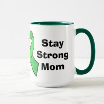 """Stay Strong Mom"" Lyme Disease Awareness Mug"