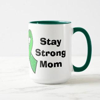"""""""Stay Strong Mom"""" Lyme Disease Awareness Mug"""