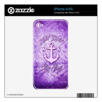 Stay strong nautical pancreatic cancer products. decal for the iPhone 4S