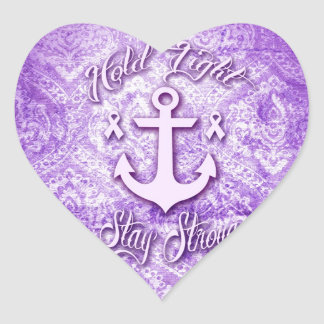Stay strong nautical pancreatic cancer products. heart sticker