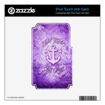 Stay strong nautical pancreatic cancer products. iPod touch 4G skin