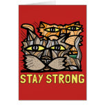 """Stay Strong"" Notecard"