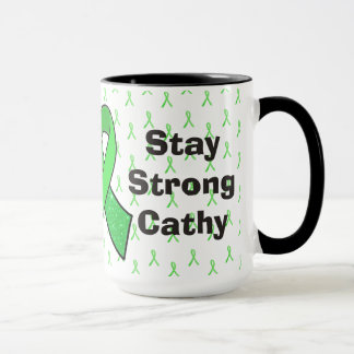 """""""Stay Strong"""" Personalized Lyme Awareness  Mug"""