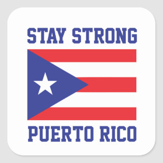 Stay Strong Puerto Rico Square Sticker