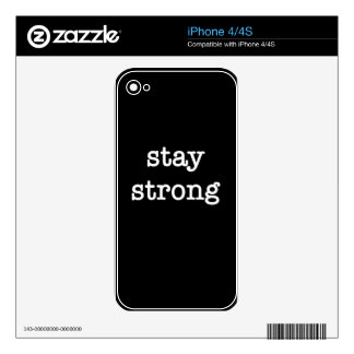 Stay Strong Skin For The iPhone 4S