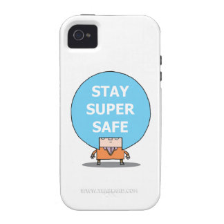 STAY SUPER SAFE iPhone 4, Barely There Case iPhone 4 Case