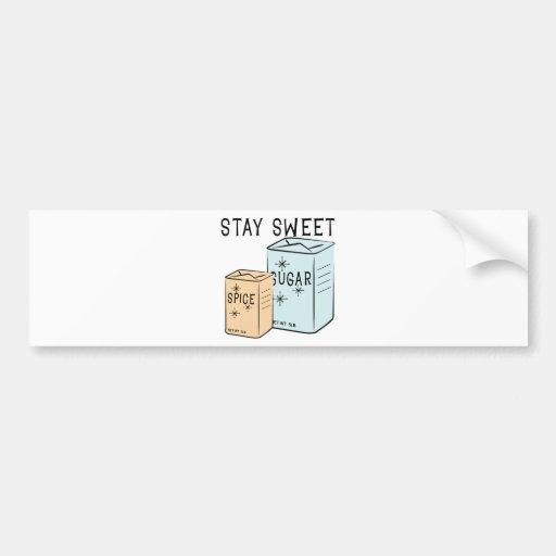 Stay Sweet Bumper Stickers