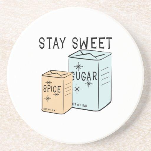 Stay Sweet Beverage Coasters