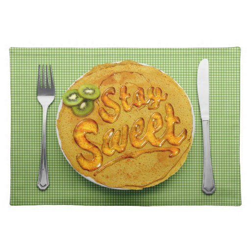 Stay Sweet Placemat: Kiwi Place Mat