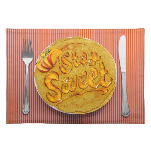 Stay Sweet Placemat: Peach Place Mat
