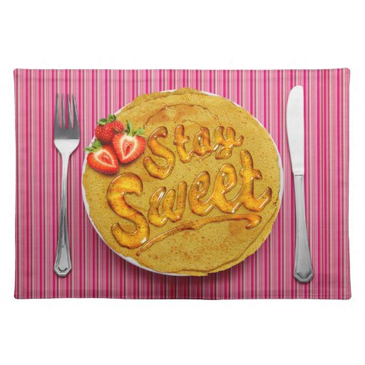 Stay Sweet Placemat: Strawberry Placemat