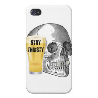 STAY THIRSTY - VAMPIRE SKULL PRINT COVERS FOR iPhone 4